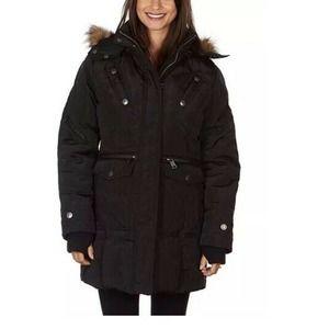 XOXO Hooded Jacket Faux-Fur Hooded Puffer Coat XL